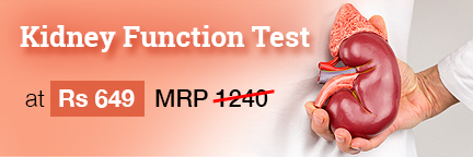 Kidney Function Test ( KFT) at Rs 649 ( Original Price -